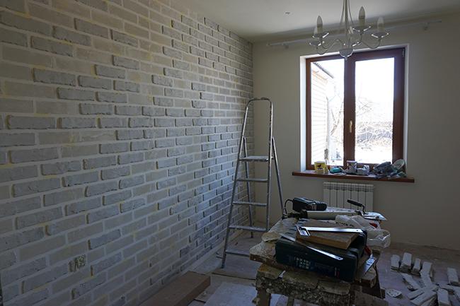 Кирпичная стена в интерьере своими руками фото 313